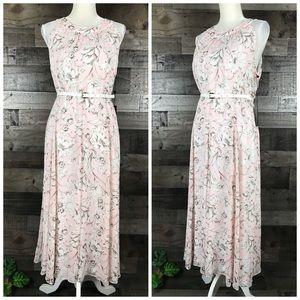 Tommy Hilfiger Belted Floral Dress Halter Neck 14
